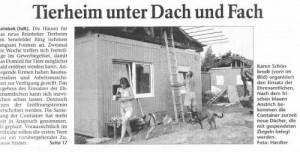 Bergedorfer Zeitung: Tierheim unter Dach und Fach